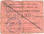 Banknotes Flers-en-Escrébieux (59). Commune. Billet. 50 centimes, emission 1914, série C, annulation manuelle