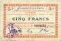 Banknotes Fontaine-Notre-Dame (59). Commune. Billet. S.Q.G.,  5 francs 17.10.1917, 2e série