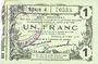 Banknotes Fourmies (59). Bon Régional des Départ. du Nord, Aisne & Oise. Billet. 1 franc 8.5.1915, série 4