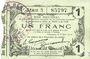 Banknotes Fourmies (59). Bon Régional des Départ. du Nord, Aisne & Oise. Billet. 1 franc 8.5.1916, série 3