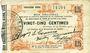 Banknotes Fourmies (59). Bon Régional des Départ. du Nord, Aisne & Oise. Billet. 25 cmes 24.10.1915, 3e série