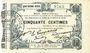 Banknotes Fourmies (59). Bon Régional des Départ. du Nord, Aisne & Oise. Billet. 50 cmes 24.10.1915, 4e série