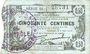 Banknotes Fourmies (59). Bon Régional des Départ. du Nord, Aisne & Oise. Billet. 50 cmes 8.5.1915, série 10