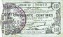 Banknotes Fourmies (59). Bon Régional des Départ. du Nord, Aisne & Oise. Billet. 50 cmes 8.5.1915, série 12