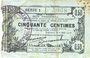 Banknotes Fourmies (59). Bon Régional des Départ. du Nord, Aisne & Oise. Billet. 50 cmes 8.5.1915, série 1