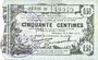 Banknotes Fourmies (59). Bon Régional des Départ. du Nord, Aisne & Oise. Billet. 50 cmes 8.5.1915, série 21