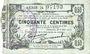 Banknotes Fourmies (59). Bon Régional des Départ. du Nord, Aisne & Oise. Billet. 50 cmes 8.5.1915, série 24