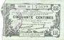 Banknotes Fourmies (59). Bon Régional des Départ. du Nord, Aisne & Oise. Billet. 50 cmes 8.5.1915, série 25