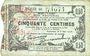 Banknotes Fourmies (59). Bon Régional des Départ. du Nord, Aisne & Oise. Billet. 50 cmes 8.5.1915, série 46