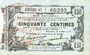 Banknotes Fourmies (59). Bon Régional des Départ. du Nord, Aisne & Oise. Billet. 50 cmes 8.5.1915, série 47