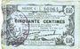 Banknotes Fourmies (59). Bon Régional des Départ. du Nord, Aisne & Oise. Billet. 50 cmes 8.5.1915, série 4
