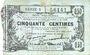 Banknotes Fourmies (59). Bon Régional des Départ. du Nord, Aisne & Oise. Billet. 50 cmes 8.5.1915, série 6