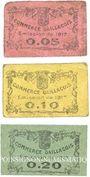 Banknotes Gaillac (81). Commerce Gaillaçois. Billets. 5, 10, 20 cmes, émission 1917