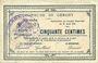 Banknotes Gergny (02). Commune. Billet. 50 cmes 27.8.1915