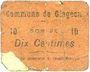 Banknotes Glageon (59). Commune. Billet. 10 centimes