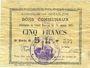 Banknotes Goeulzin (59). Commune. Billet. 5 francs du 31.1.1915, 5e série G