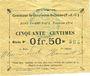 Banknotes Gouy-sous-Bellonne (62). Commune. Billet. 0,50 franc, émission 1914, série P