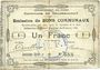 Banknotes Gouzeaucourt (59). Commune. Billet. 1 franc du 21.1.1915, 2e série