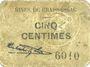 Banknotes Graissessac (34). Mines. Billet. 5 centimes
