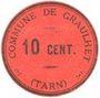 Banknotes Graulhet (81). Commune. Billet. 10 centimes