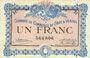 Banknotes Gray et Vesoul (70). Chambre de Commerce. Billet. 1 franc 4.10.1915, sans le nom de l'imprimeur