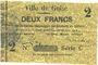 Banknotes Guise (02). Ville. Billet. 2 francs 28.6.1915, série C