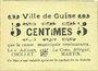Banknotes Guise (02). Ville. Billet. 5 cmes, rameau vers la droite