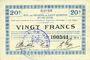 Banknotes Guise (02). Ville. Billet. S.Q.G., 20 francs 17.10.1917, 2e série