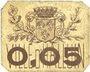Banknotes Halluin (59). Ville. Billet. 5 centimes