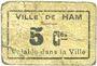 Banknotes Ham (80). Ville. Billet. 5 centimes