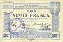 Banknotes Ham, Noyon & Saint-Simon (80). Union des Communes. Billet. 20 francs