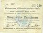 Banknotes Hamblain-les-Prés (62). Commune. Billet. 50 centimes, émis en 1914