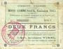 Banknotes Harnes (62). Commune. Billet. 2 francs 20.2.1915, série C