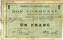 Banknotes Haynecourt (59). Commune. Billet. 1 franc 29.8.1915