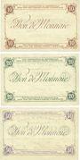 Banknotes Hem (59). Commune. Billets. 10 francs, 20 francs, 50 francs Spécimens, 2e série, sans numérotation