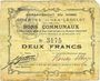 Banknotes Hem-Lenglet (59). Commune. Billet. 2 francs 20.12.1914
