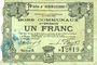 Banknotes Hénin-Liétard (62). Ville. Billet. 1 franc 6.3.1916, série A