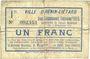 Banknotes Hénin-Liétard (62). Ville. Billet. 1 franc, émission 1915, 24.12.1914