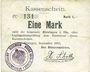 Banknotes Hirsingue (68). Commune. Billet. 1 mark sept 1914. Signature manuscrite du maire H. Schott