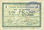 Banknotes Hirson (02). Ville. Billet. 1 franc 25.6.1915