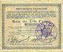 Banknotes Hirson (02). Ville. Billet. 1 franc 9.3.1915