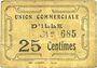 Banknotes Ille (66). Union Commerciale d'Ille. Billet. 25 centimes
