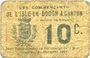 Banknotes Isle-en-Dodon & Canton (31). Les commerçants. Billet. 10 centimes