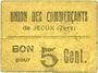 Banknotes Jegun (32). Union des Commerçants. Billet. 5 centimes