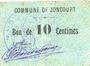 Banknotes Joncourt (02). Commune. Billet. 10 centimes