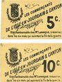 Banknotes L'Isle-en-Jourdain & Canton (32). Les commerçants. Billets. 5 centimes, 10 centimes