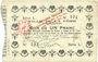 Banknotes La Fère (02). Ville. Billet. 1 franc 30.11.1914, série L