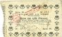 Banknotes La Fère (02). Ville. Billet. 1 franc 30.11.1914, série M