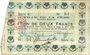 Banknotes La Fère (02). Ville. Billet. 2 francs 30.11.1914, série G