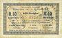 Banknotes La Flamengrie (02). Commune. Billet. 0,10 centimes 16.9.1915